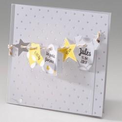 Faire-part naissance elegant fil a linge Belarto Happy Baby 715043