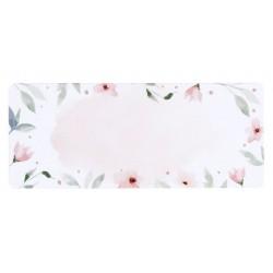 Etiquettes adresses élégante florale rose vert aquarelle BUROMAC Baby Folly (2019) 579.204