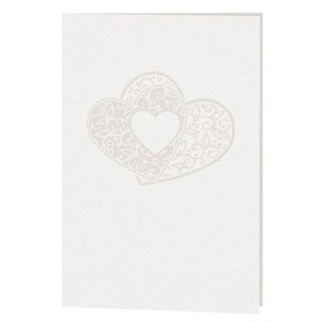 Menu mariage crème coeur arabesques BELARTO Celebrate Love 723699