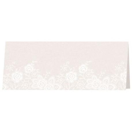 Carte de table irisée crème fleurs blanches BELARTO Celebrate Love 725796