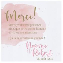 Carte lunch ou remerciements moderne aquarelle coeurs roses BELARTO Celebrate Love 7295002