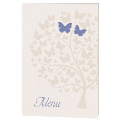 Menu mariage nature arbre papillons beige Belarto Celebrate Love 726697