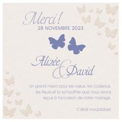 Carte lunch ou remerciements originale papillons beige BELARTO Celebrate Love 726597