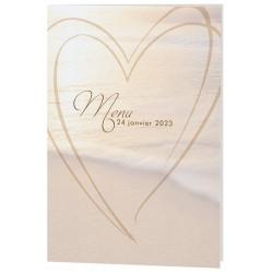 Menu mariage original mer coeurs Belarto Celebrate Love 7296013