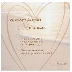 Carte lunch ou remerciements originale nature romantique mer soleil coeur BELARTO Celebrate Love 7295013