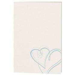 Menu mariage classique crème coeurs bleus Belarto Celebrate Love 723642