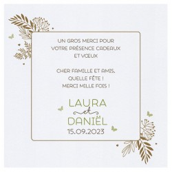 Carte lunch ou remerciements nature cadre feuilles marrons BELARTO Celebrate Love 7295006