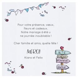 Carte lunch ou remerciements humoristique voyage pancartes BELARTO Celebrate Love 7295004