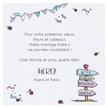 Carte Lunch Ou Remerciements Humoristique Voyage Pancartes