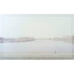 Carte de remerciement décés, deuil, funérailles, condoléances, obsèques paysage lac DECORTE 6510