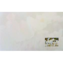 Carte de remerciement décés, deuil, funérailles, condoléances, obsèques fleurs blanches DECORTE 6540