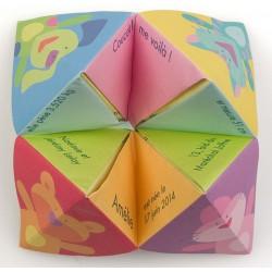 Faire-part de naissance original cube plié multicolore Busquet 3102716347C