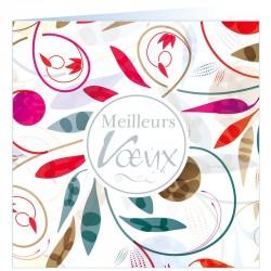 Carte de Voeux moderne colorée argenture vernis Faire Part Select BTB334