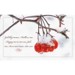 Carte Voeux nature cerises gelées vernies Belarto 630054