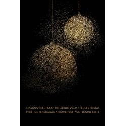 Carte de Voeux élégante noire boules dorées Belarto 630026