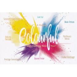 Carte de Voeux colorée festive dorure Belarto 630051