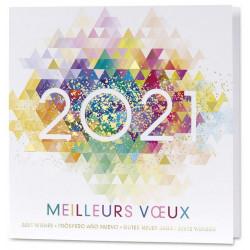 Cartes vœux 2021 pour vœux professionnels avec enveloppes offertes