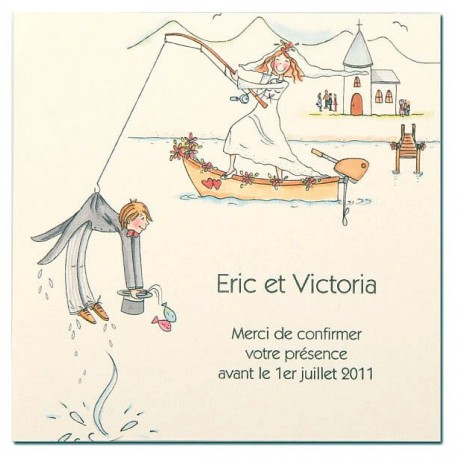 Carte lunch ou remerciements BUSQUET
