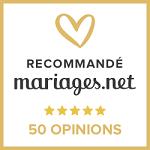 50 avis obtenus sur Mariages.net