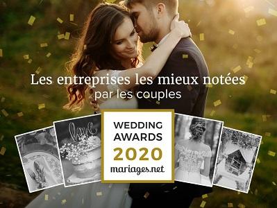 Wedding Awards 2020 mariages.net catégorie faire-part mariage pour mesfairepart.com