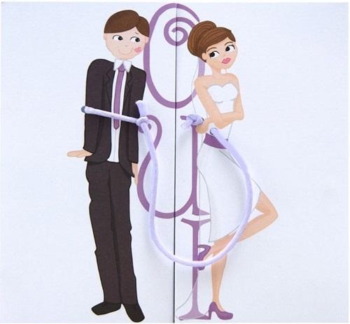 Faire-part de mariage humoristique