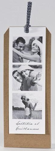 Faire-part de mariage avec photo personnalisée